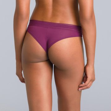 Daily Glam purple garnet Brazilian briefs - DIM