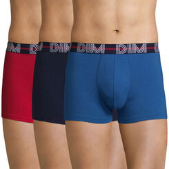 3-pack red, dark blue and sly blue trunks - Dim Powerful, , DIM