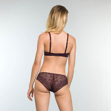 Precious Pruple Lace and Microfiber Briefs Sublim Dentelle, , DIM