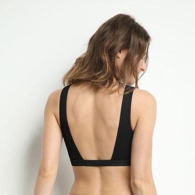 Jolie Madame Halter top with lace bib Black, , DIM