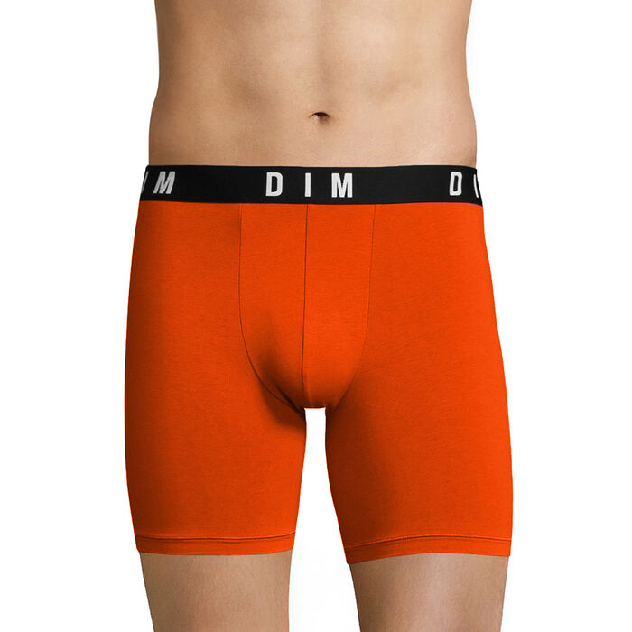 Orange long trunks in cotton and modal - DIM Originals, , DIM