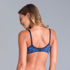 Generous cosmic blue-print underwired bra - DIM