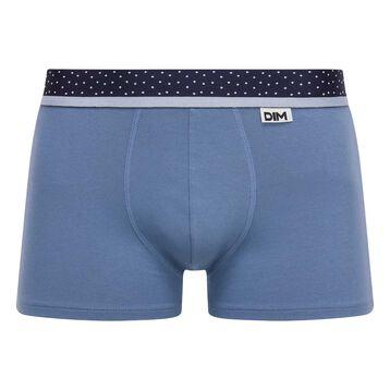 Blue Jeans trunks with a Polka Dot waistband Mix & Dots, , DIM