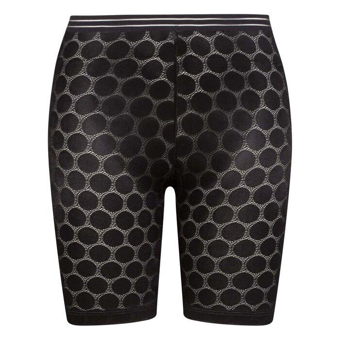 Shaping Dots black polka dot shaping Bermuda shorts, , DIM