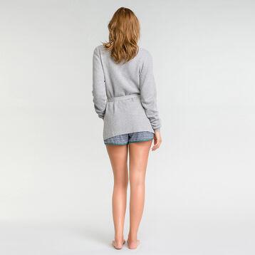 Gilet en maille tricotée gris - Soft Essential, , DIM
