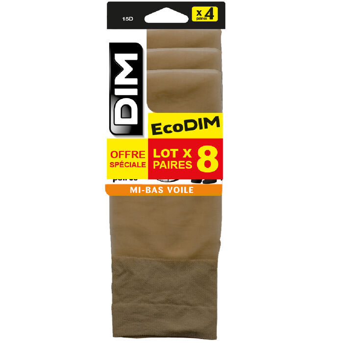 EcoDIM 4 pack gazelle sheer knee-highs 15D, , DIM