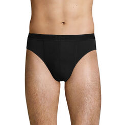 Lot de 2 slips en Coton Stretch Soft Noir pour homme Soft Power, , DIM