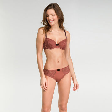 Cedar pink lace brief - Dim Sublim Dentelle, , DIM