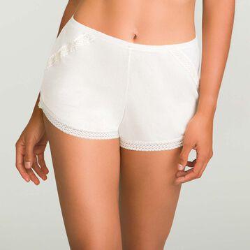 Short Pyjama Nacre en coton modal pour femme Softly Line, , DIM