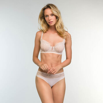 Bustier Balconette Bra in Light Beige Daily Glam Trendy Sexy, , DIM
