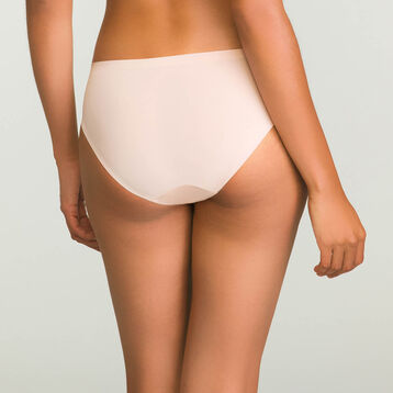 Women's skin pink microfiber invisible briefs InvisiFree, , DIM