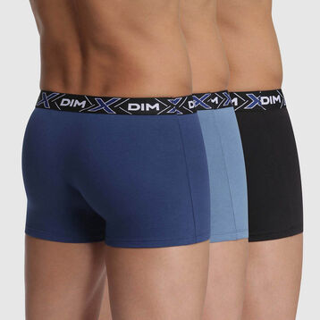 Lot de 3 boxers X-Temp Bleu Eclipse, Bleu Jean, Bleu Noir en coton, , DIM
