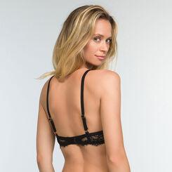 Black lace foulard bra for women Refined Lace, , DIM