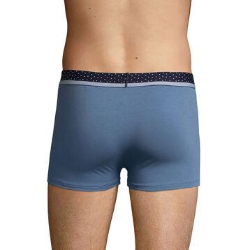 Boxer homme bleu jean et ceinture à pois Dim Mix & Dots, , DIM