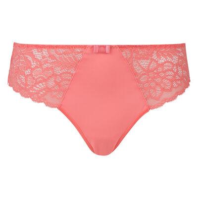 Lace coral pink briefs Dim Sublim, , DIM