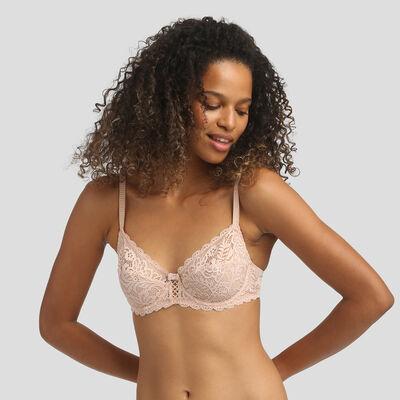 Dim Sublim Lace nude pink bra , , DIM