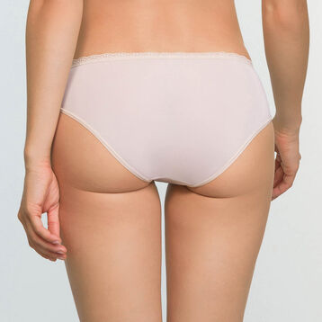 Women's lace and microfiber briefs in Light Beige Daily Glam Trendy Sexy, , DIM