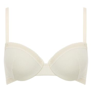 Balcony Pealy White Bra in cotton Softly Line, , DIM