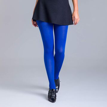 Style 80 Neptune blue ultra-opaque tights - DIM