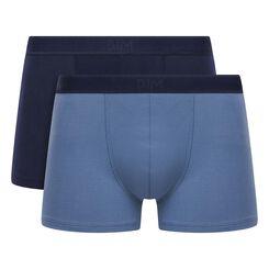 2 Pack stretch cotton trunks Blue Jeans and Denim Blue Soft Power, , DIM