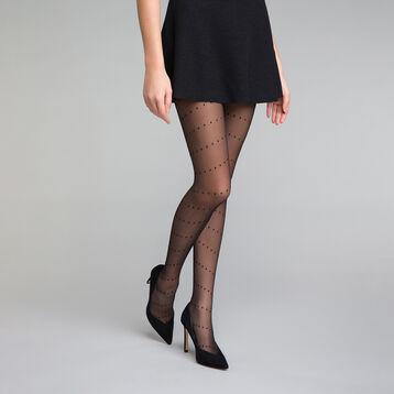 Dotted swiss black 20 Tights - Dim Style, , DIM