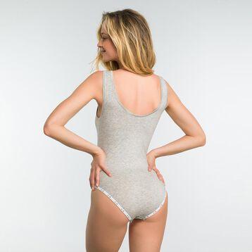 Mottled grey bodysuit in cotton - DIM Originals, , DIM