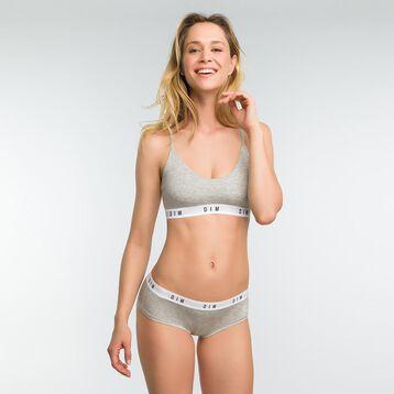 Mottled grey non-wired bra for women - DIM Originals, , DIM