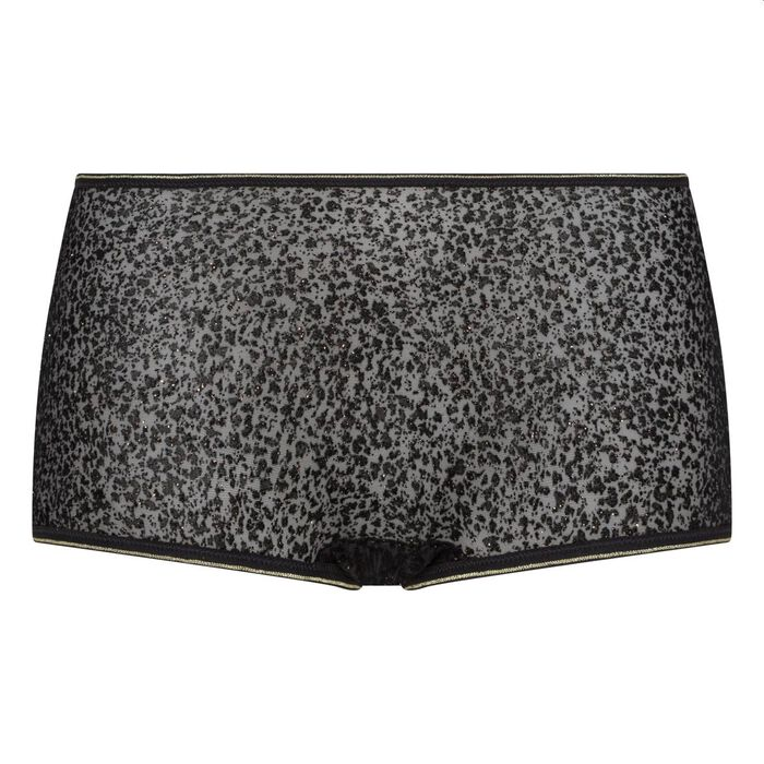 Chic Line precious black tulle and velvet shorties, , DIM