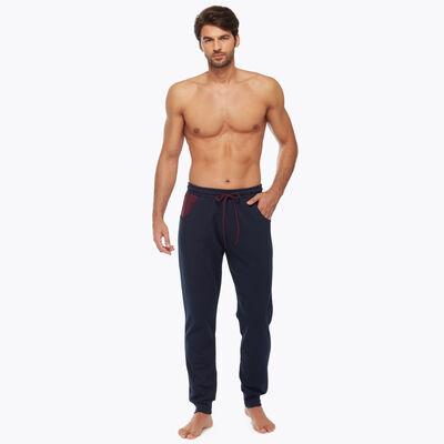 Blue and Burgundy Men's Pyjama Pants, , DIM