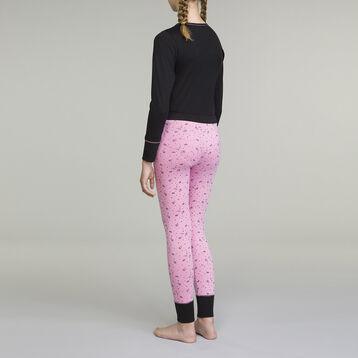 Pyjama manches longues pour fille 2 pièces Noir et Rose Esprit Gaming, , DIM