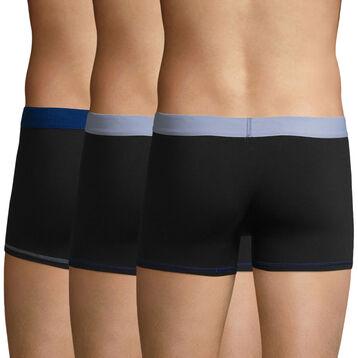 3 Pack trunks Black-Sky Blue and Black-Sky Blue Color Mix, , DIM