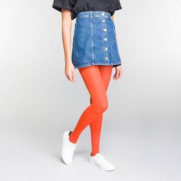 Fire-orange opaque 50 tights - DIM Style, , DIM
