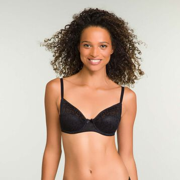 Full cup underwire black bra Mes Essentiels , , DIM