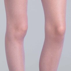 Style 73 lilac fishnet tights - DIM