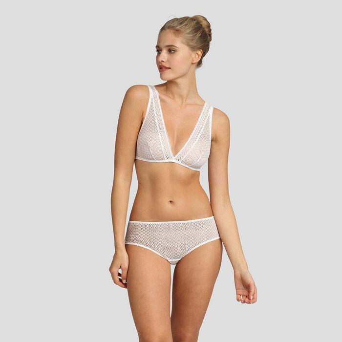 Dim Résille Chic white lace soft triangle bra, , DIM