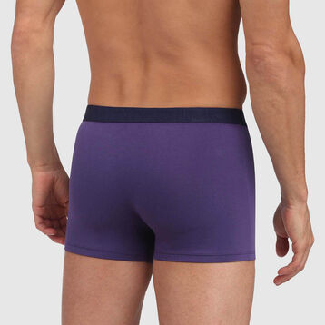 Mix and Fancy stretch cotton trunks in gemstone blue with blue waistband, , DIM