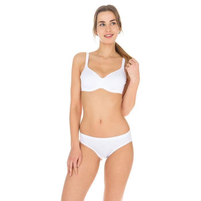 Body Touch Dim White microfibre panty, , DIM