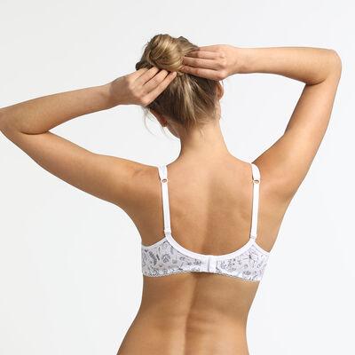 Generous Organic Cotton Dim underwire bra with herbal print, , DIM