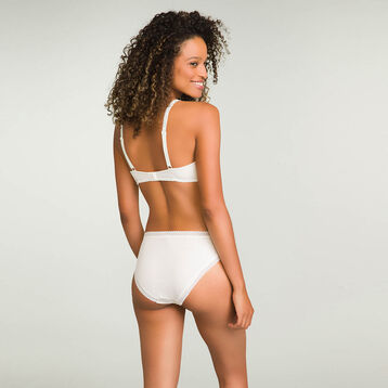 Pearly White women's brief in cotton Softly Line, , DIM