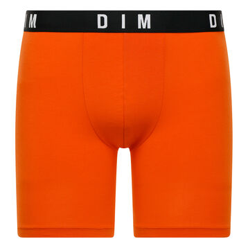Orange long trunks in cotton and modal - DIM Originals, , DIM