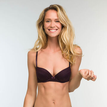 Trendy Micro Microfiber Push up Bra in Precious Purple, , DIM