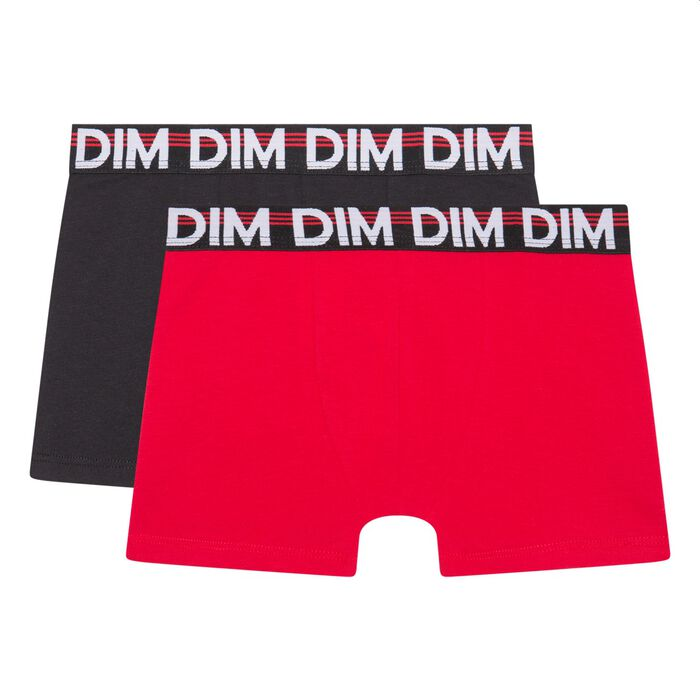 Pack of 2 boy's boxers cotton stretch graphic belt Ruby Eco Dim, , DIM