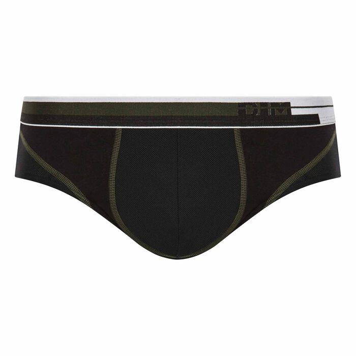 Slip homme respirant en coton noir - DIM Sport, , DIM