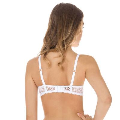 Sublim Dentelle demi-cup bra in white, , DIM