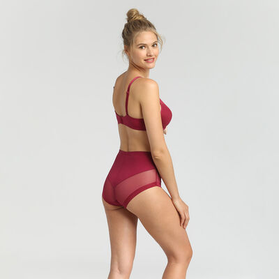 Generous Limited Edition varnish red invisible high-waist briefs, , DIM