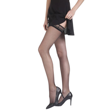 Black DIM Up Sexy Fascination 15 hold ups, , DIM