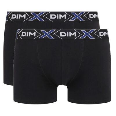 Комплект из 2 трусов-боксеров X-Temp из хлопка стрейч черного цвета, , DIM