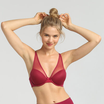Dim Generous Limited Edition red invisible padded bra, , DIM