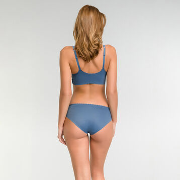 Cross over bra in antique blue - Dim Body Touch, , DIM