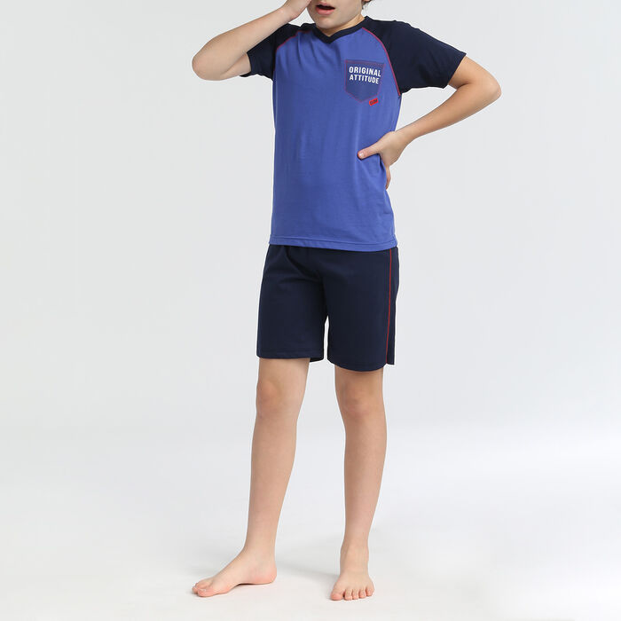 Boy's short-sleeved 2-piece pyjamas Matelot Dim Original, , DIM